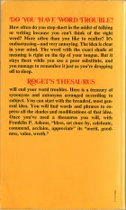 Roget's Pocket Thesaurus. Sylvester Mawson, Ktherine A. Whiting