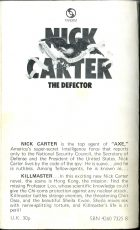 Nick Carter: The Defector. George Snyder