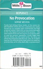 No Provocation. Sophie Weston (Софи Уэстон)